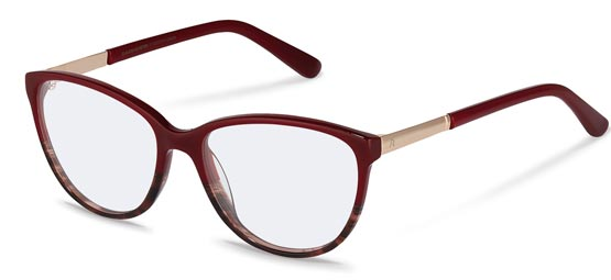 Claudia Schiffer by Rodenstock-Bril-C4016-red structured, rose gold