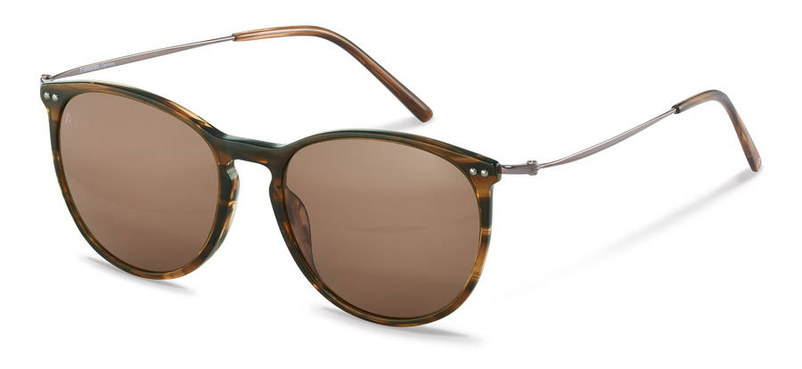 Rodenstock-Zonnebril-R3312-brownstructured/gunmetal